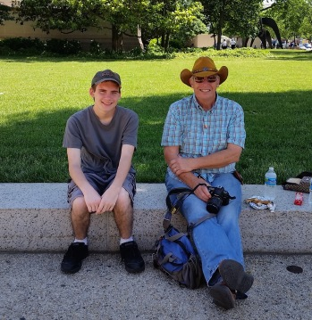 Nathan with Papa Mac in D.C.