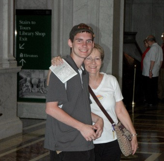 Nathan and Grandma at the Library of Congress in D.C.