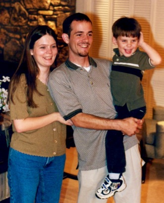 Nathan at 4 years old with Mom and Dad